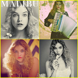 Barbara Palvin Looks Retro Glam on the Cover of Malibu Magazine