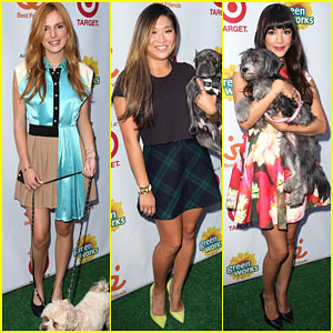 Bella Thorne & Jenna Ushkowitz Cuddle Up to Adorable Dogs for Charity!