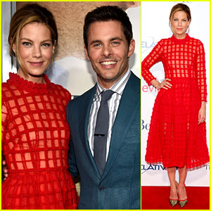 James Marsden & Michelle Monaghan Go Colorful for 'Best of Me' Premiere!