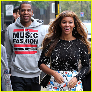 Beyonce & Jay Z Look Happy & in Love in London!