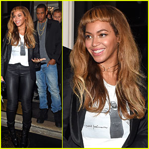 Beyonce Keeps Her New Hairstyle Going for Dinner with Jay Z