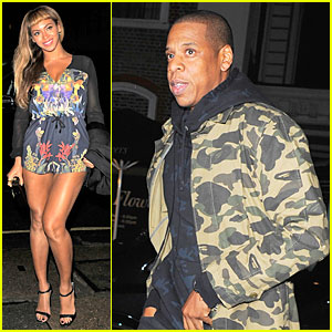 Beyonce Wears Very Short & Sexy Romper For London Date With Jay Z
