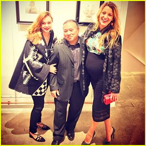 Blake Lively Accentuates Baby Bump at Travis Louie Opening