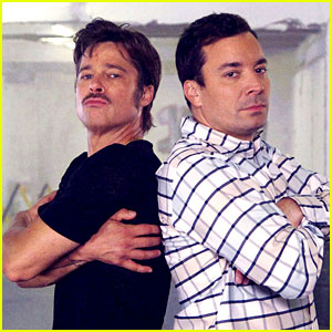 Brad Pitt Has a 'Breakdance Conversation' with Jimmy Fallon - Watch the Hilarious Video!