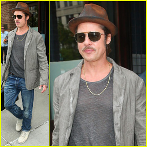 Brad Pitt Says Filming 'Fury' Was Miserable & He Loved It!