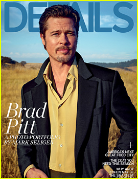 Brad Pitt to 'Details': 'I Don't Suck at Being a Dad'