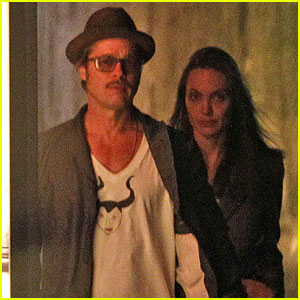 Brad Pitt Wears Homemade 'Maleficent' Shirt with Angelina Jolie