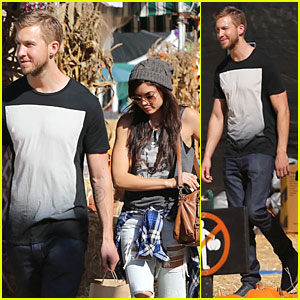 Calvin Harris & Girlfriend Aarika Wolf Prep For Halloween at Pumpkin Patch