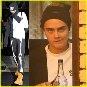 Cara Delevingne Wears Full Face Ski Mask & Is Still Recognized