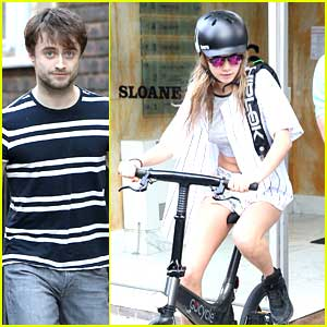 Cara Delevingne Meets Up With Daniel Radcliffe For Bike Ride Home