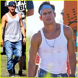 Channing Tatum & Matt Bomer are Hot Denim Dudes on 'Magic Mike XXL' Set in Savannah!