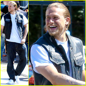 Charlie Hunnam Is Having a Blast on 'Sons of Anarchy' Set