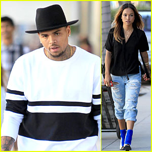 Chris Brown & Girlfriend Karrueche Tran Shop 'Til They Drop in Beverly Hills