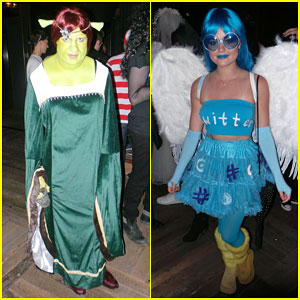Colton Haynes & Lucy Hale Bring Their Costume A-Game to a Halloween Party