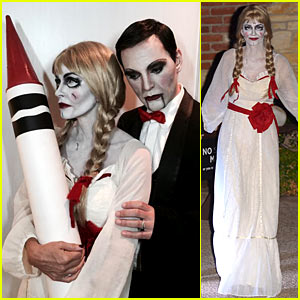 Courteney Cox Dolls Up as 'Annabelle' for Halloween with Fiance Johnny McDaid!