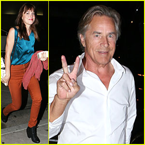 Dakota Johnson Grabs Dinner With Dad Don Before 25th Birthday