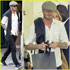 David Beckham is a Solo Shopper at Saint Laurent in Paris