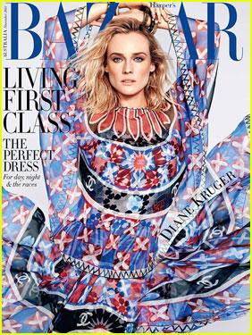 Diane Kruger Talks Aging Gracefully & Embracing It in 'Harper's Bazaar Australia'