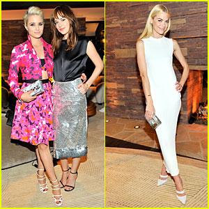 Dianna Agron & Dakota Johnson Meet Up at CFDA/Vogue Fashion Fund Dinner