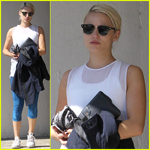 Dianna Agron Hits the Gym For a Weekend Workout