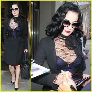 Dita Von Teese Opens Up on Sexuality & Says She's Not a Lesbian