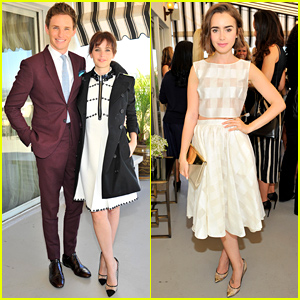 Eddie Redmayne & Lily Collins Get All Dressed Up to Celebrate BAFTA Los Angeles