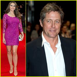 Elizabeth Hurley Supports Her Ex Boyfriend Hugh Grant at 'The Rewrite' Premiere