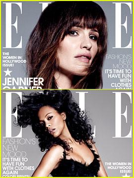 Jennifer Garner, Zoe Saldana, & Tina Fey Cover 'Elle' Women in Hollywood Issue!