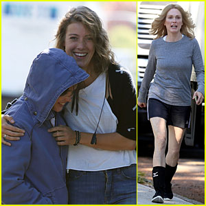 Ellen Page Gets Wrapped Up By Crew Member on 'Freeheld' Set!
