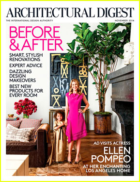 Ellen Pompeo & Adorable Daughter Stella Hold Hands on 'Architectural Digest' November 2014 Cover