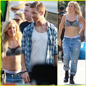 Ellie Goulding & Calvin Harris Team Up for 'Outside' Music Video