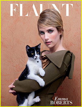 Emma Roberts Gets Catty for Flaunt's Latest Cover