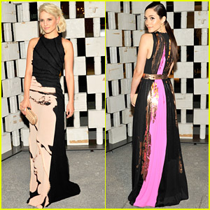 Dianna Agron & Emmy Rossum Turn Heads At Hammer Museum Gala