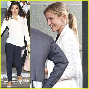 Eva Longoria & Cameron Diaz Show Huge Support For Hillary Clinton's Fundraiser