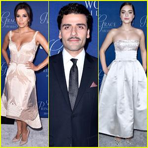 Eva Longoria & Oscar Isaac Honor Dick Van Dyke at the Princess Grace Awards Gala 2014!
