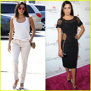 Eva Longoria Stuns in Sheer Cutout Dress at Foundation Dinner