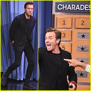Ewan McGregor Gets Competitive For Charades on 'Tonight Show'