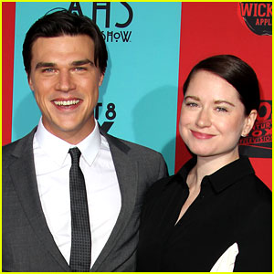 Finn Wittrock with cool, beautiful, cute, Girlfriend Sarah Roberts