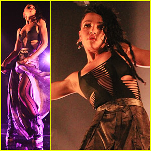 FKA twigs Puts Her Toned Arms On Display at London Concert