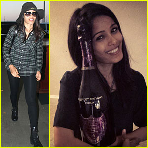 Freida Pinto Takes Flight After Celebrating the Big 3-0