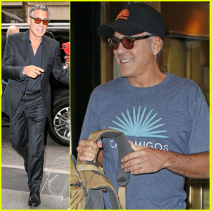 George Clooney Flashes His Wedding Ring in New York City