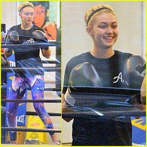 Gigi Hadid Puts Her Energy Into Boxing Workout