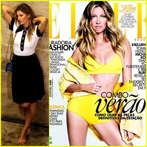 Gisele Bundchen Looks So Sexy in a Yellow Bikini for 'Elle Brasil'