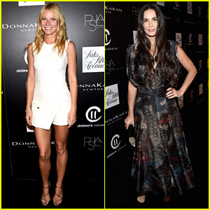 Gwyneth Paltrow & Demi Moore Get All Dressed Up for PSLA Autumn Party