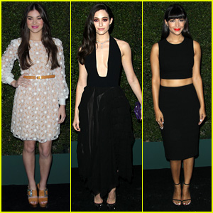 Hailee Steinfeld & Emmy Rossum Wow at Michael Kors Party