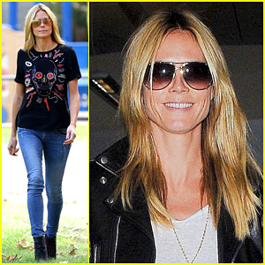 Heidi Klum Gets Back to Mommy Duty After a Trip to Paris