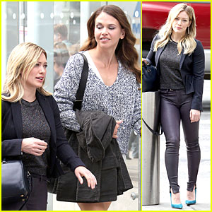Hilary Duff Gets 'Younger' in NYC After 27th Birthday!