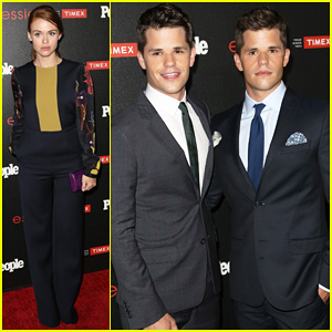 Holland Roden Hits Up 'People's Ones To Watch Party with Her Teen Wolf Co-Stars Max & Charlie Carver!