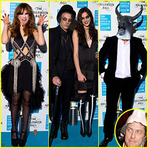 Suki Waterhouse & Hugh Grant Get Spooky for UNICEF Halloween Ball