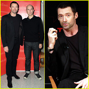 Hugh Jackman Joins His 'The River' Director Ian Rickson at TimesTalks Conversation!